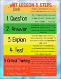 Whole Brain Teaching 5 Step Lesson Plan Template