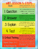 Whole Brain Teaching 5 Step Lesson Plan Template