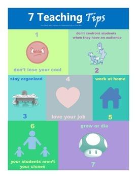 Whole Brain Teaching 7 Teaching Tips Poster