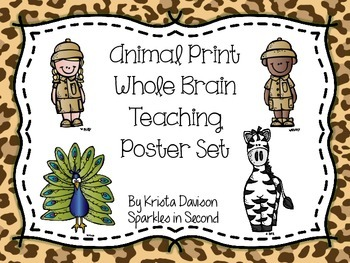 Whole Brain Teaching Animal Print Poster Set