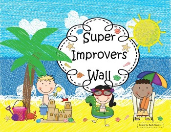 Whole Brain Teaching Beach and Ocean Themed Super Improvers Wall