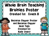Whole Brain Teaching, Because Clapper Brainy