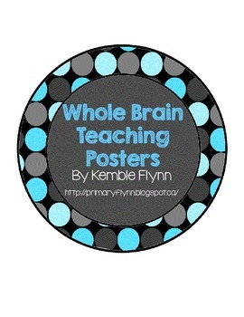 Whole Brain Teaching Blue Polka Dot Circle Posters FREEBIE