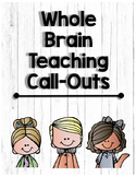 Whole Brain Teaching : Call Outs