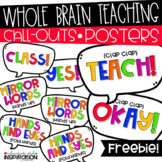 Whole Brain Teaching Call Outs Posters