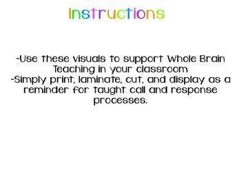 Whole Brain Teaching Call and Response Display