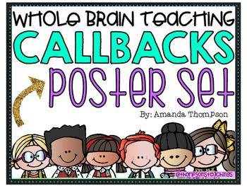 Whole Brain Teaching- Callback Poster Set