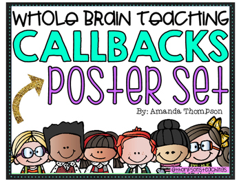 Whole Brain Teaching- Callback Poster Set