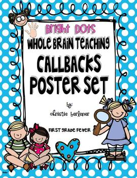 Whole Brain Teaching Callbacks Poster Set