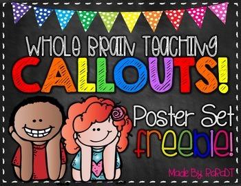 Whole Brain Teaching Callouts FREEBIE!