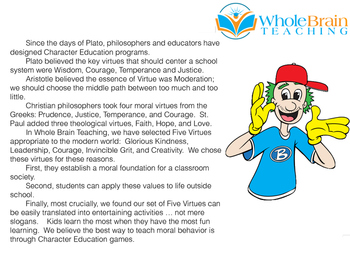 Whole Brain Teaching Character Education Course