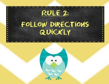 Whole Brain Teaching Class Rules