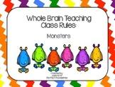 Whole Brain Teaching Class Rules (Bright Cute Lil Monsters Theme)