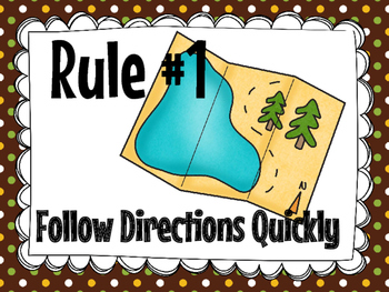 Whole-Brain Teaching Class Rules- Camp Theme