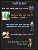 Whole Brain Teaching Class Rules - Chalkboard