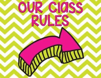 Whole Brain Teaching Class Rules- Chevron
