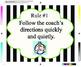 Class Rules- Football Theme