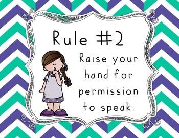 Whole Brain Teaching Class Rules - LANDSCAPE