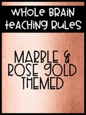 Whole Brain Teaching Class Rules: Marble & Gold Themed -- FREE