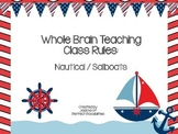 Whole Brain Teaching Class Rules (Nautical / Sailboats Theme)