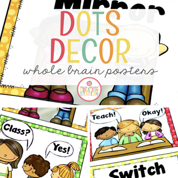 Whole Brain Teaching Posters {Dots Classroom Set}