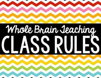 Whole Brain Teaching Class Rules Poster Set