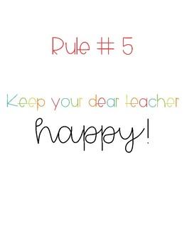 Whole Brain Teaching | Class Rules Sign