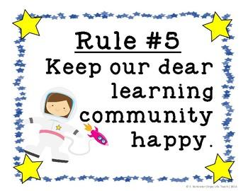 Whole Brain Teaching Class Rules: Space Theme