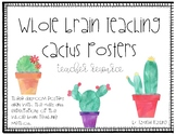 Whole Brain Teaching Classroom Posters- Cactus Theme