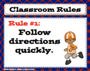 FREE Whole Brain Teaching Classroom Posters Sports Theme