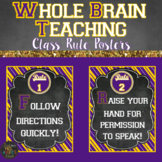 Whole Brain Teaching Classroom Rule Posters | LSU Themed Decor