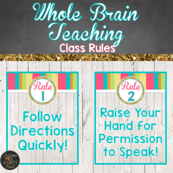 Whole Brain Teaching Classroom Rule Posters | Teaching in the Tropics Decor