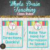 Whole Brain Teaching Classroom Rule Posters - Beach Themed Classroom Decor