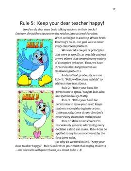 Whole Brain Teaching Classroom Rules!