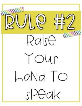 Whole Brain Teaching Classroom Rules
