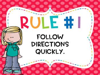 Whole Brain Teaching Classroom Rules - Editable