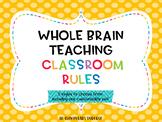 Editable Whole Brain Teaching Classroom Rules