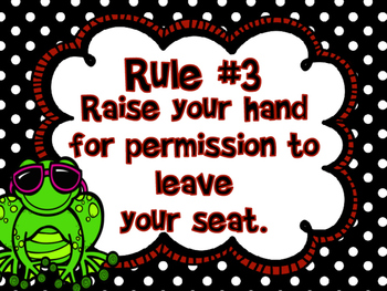 Whole Brain Teaching:  Classroom Rules (Frog Themed)