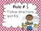 Whole Brain Teaching: Classroom Rules Pink Polka Dot Theme