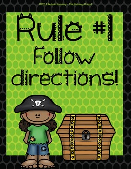 Classroom Rules: Pirate
