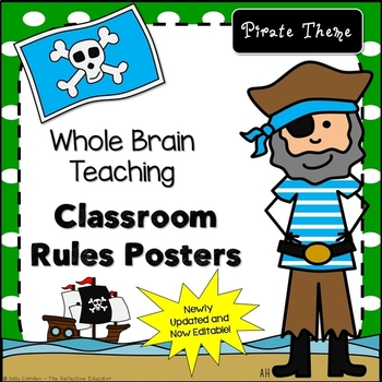 Whole Brain Teaching Class Rules Posters Pirate Themed