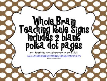 Whole Brain Teaching Classroom Rules Polka Dots