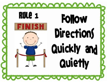 Follow Directions In School