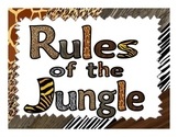 Whole Brain Teaching Classroom Rules Posters - Jungle Theme