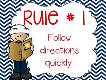 Whole Brain Teaching Classroom Rules Posters {Nautical}