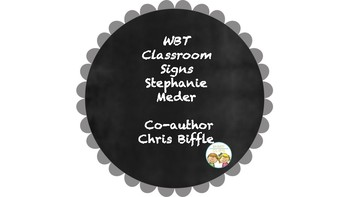 Whole Brain Teaching Classroom Signs - Including Character Education!