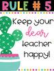 EDITABLE Cacti Rules-Classroom Decor