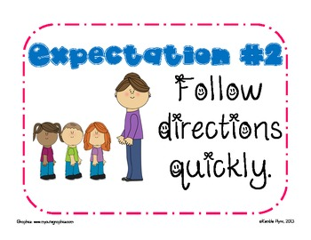 Whole Brain Teaching Expectations FREEBIE