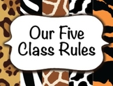 Five Class Rules / Jungle Safari Animal / Decorations