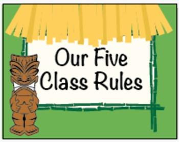 Five Class Rules /  Tiki Jungle Hut / Decorations